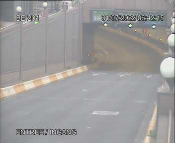 Webcam dans l'entrée du Tunnel Belliard, via rue Belliard, direction Tervuren et E40