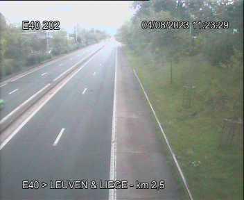 Caméra trafic Belgique - E40 (A3), Evere direction Bruxelles