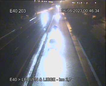 Caméra trafic Belgique - E40 (A3), Evere direction Liège en provenance de Bruxelles